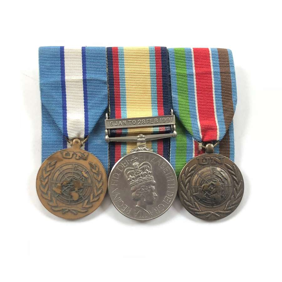 REME Gulf War Group of Three Medals.