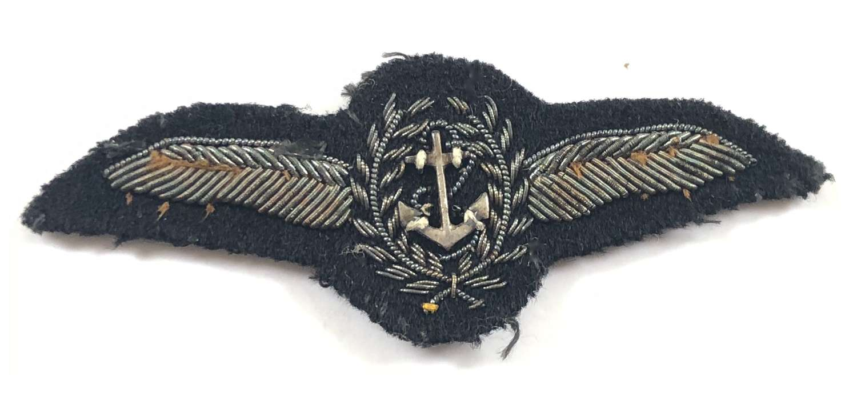 Royal Navy Rare Fleet Air Arm Pilot's bullion wing circa 1925-37.