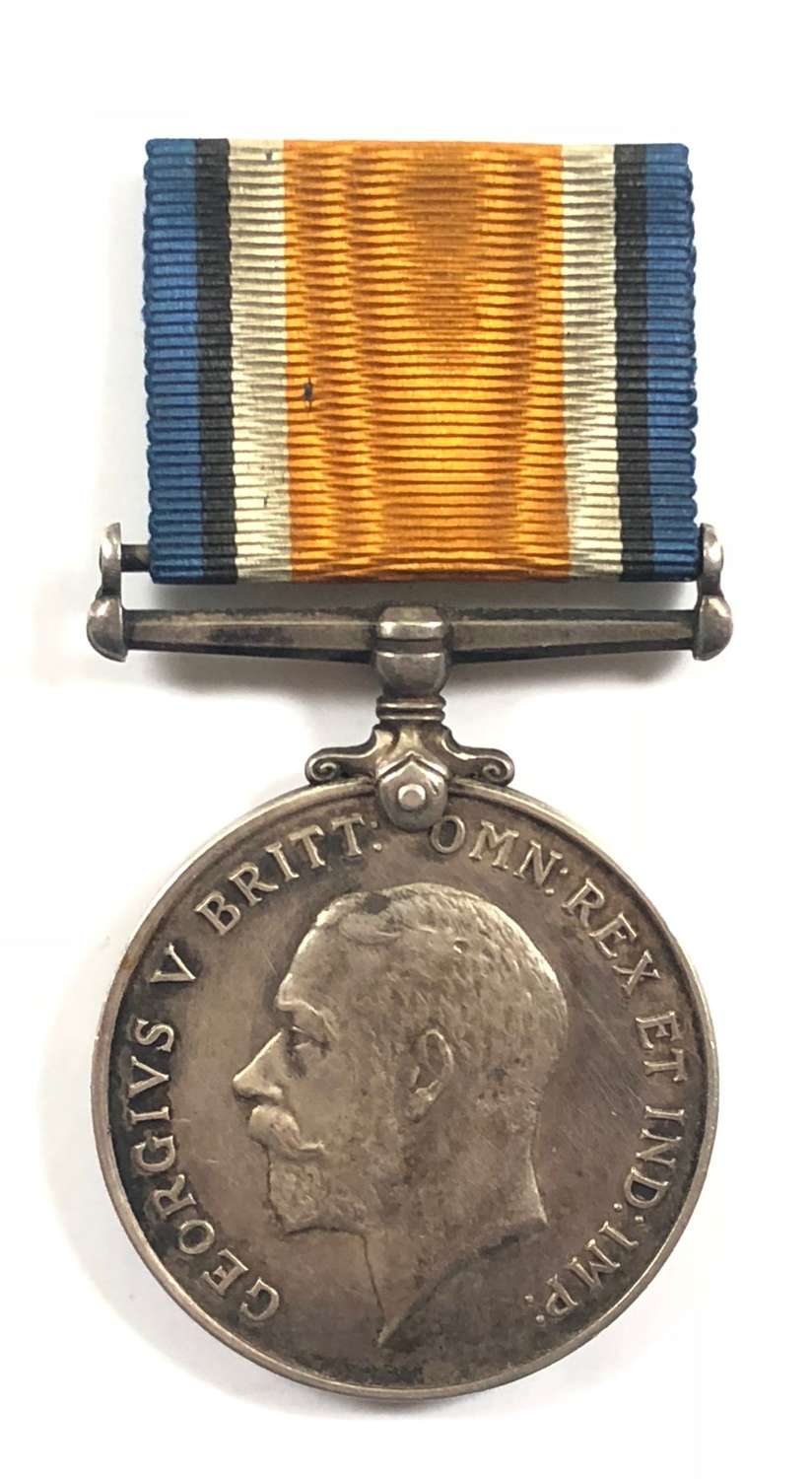 WW1 10th Bn Hampshire Regiment Gallipoli Casualty British War Medal.