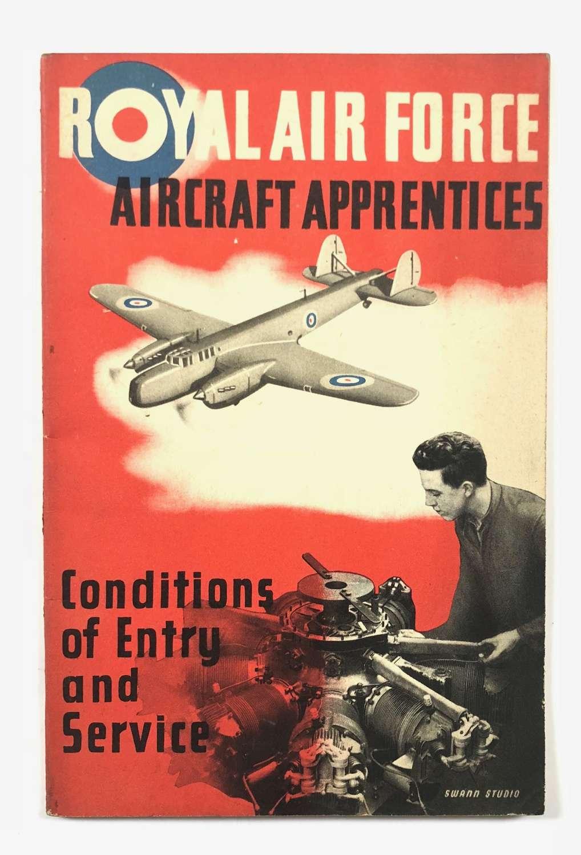 RAF 1938 RAF Aircraft Apprentices Recruiting Booklet