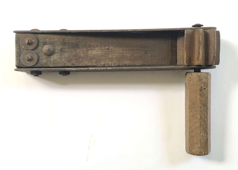 WW1 1918 Dated  British Army Gas Rattle