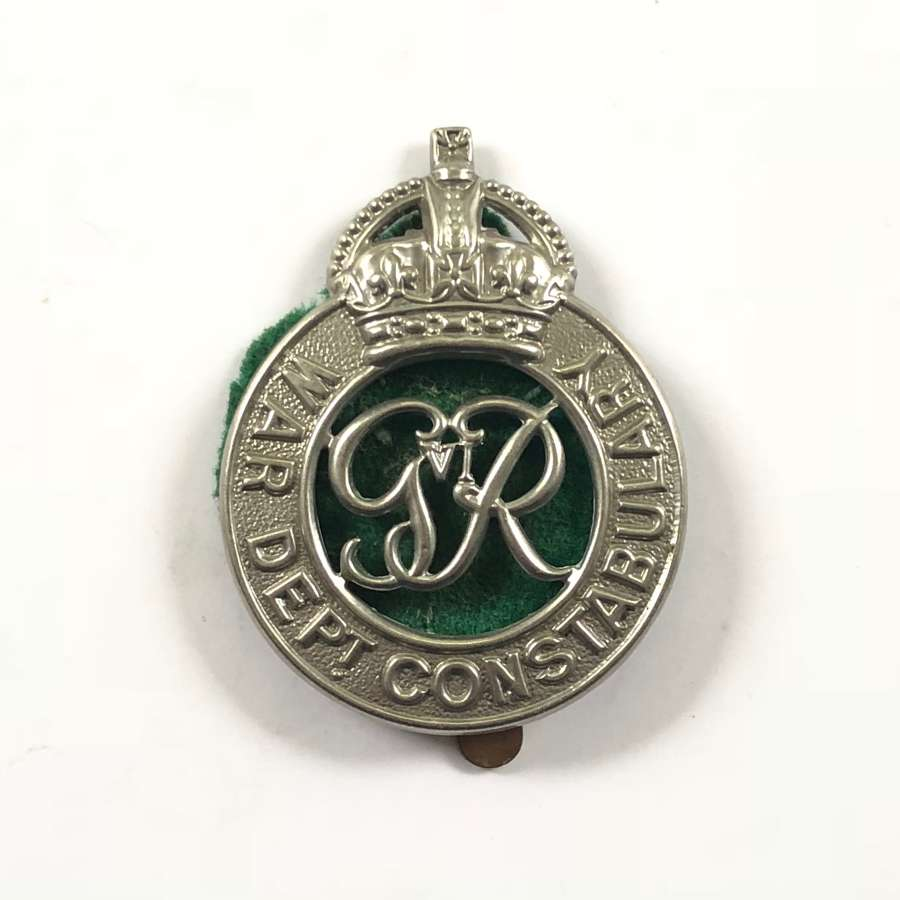 George VI War Department Constabulary Cap Badge.