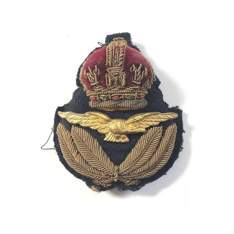 RAF Interwar, Early WW2 Officer's Cap Badge & Price Tag.