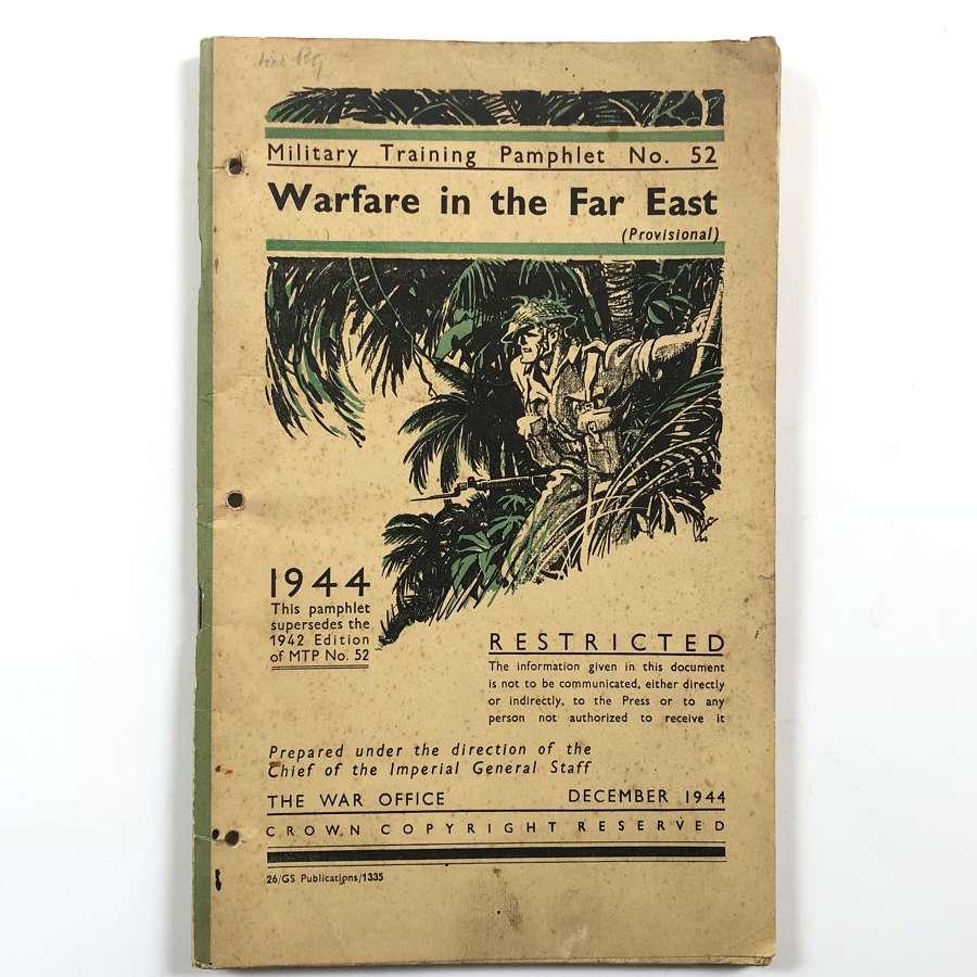 WW2 1944 Warfare in the Far East Booklet.