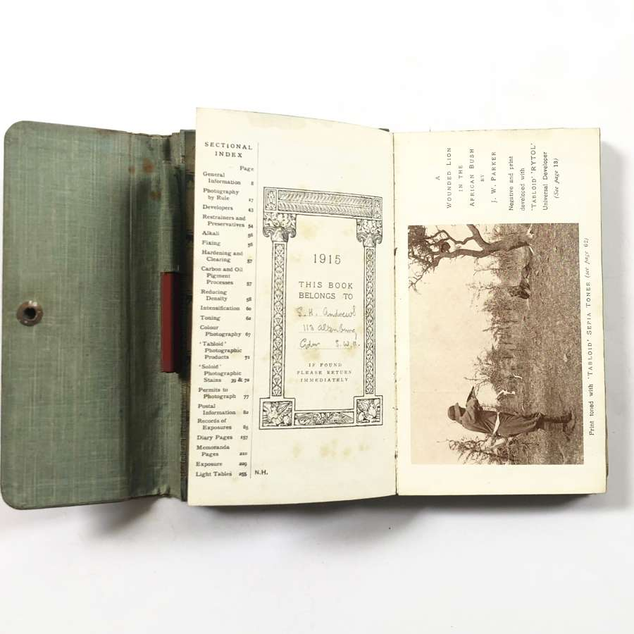 "WW1 1915 ""Welcome Photographic"" Diary."