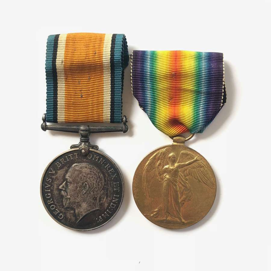 WW1 Machine Gun Corps Pair of Medals.