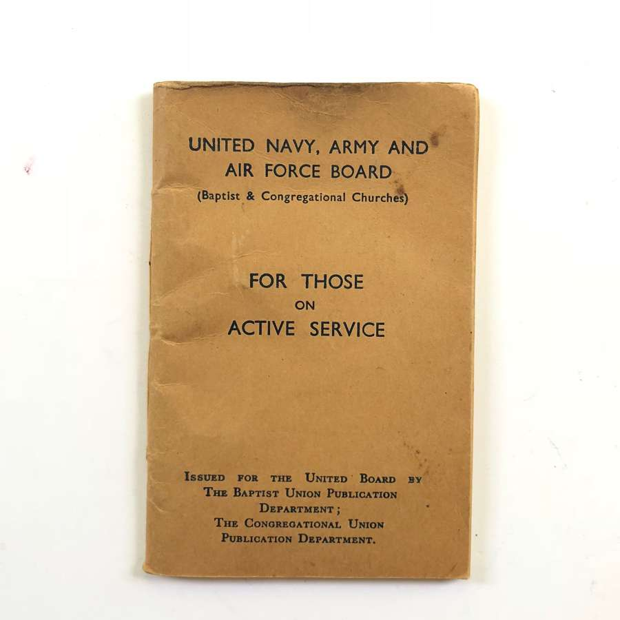 WW2 Navy, Army & Airforce Active Service Pryer Book etc.
