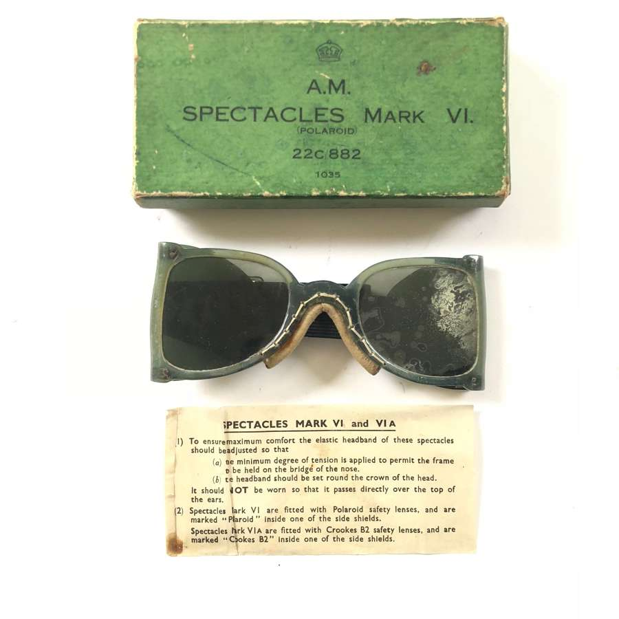 WW2 RAF MKVI Spectacles (Goggles) Boxed.