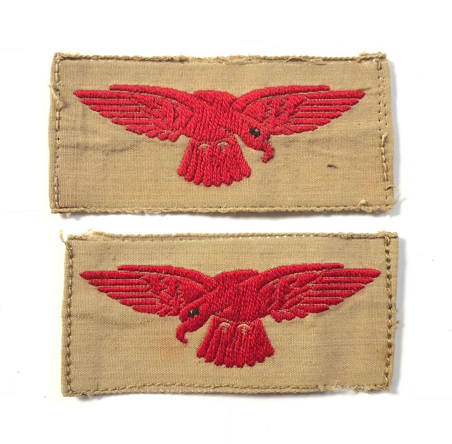 WW2 Pattern RAF Khaki Drill Shoulder Eagles.