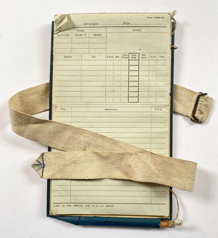 RAF WW2 / Cold War Pattern Aircrew  Flight Notes Pad