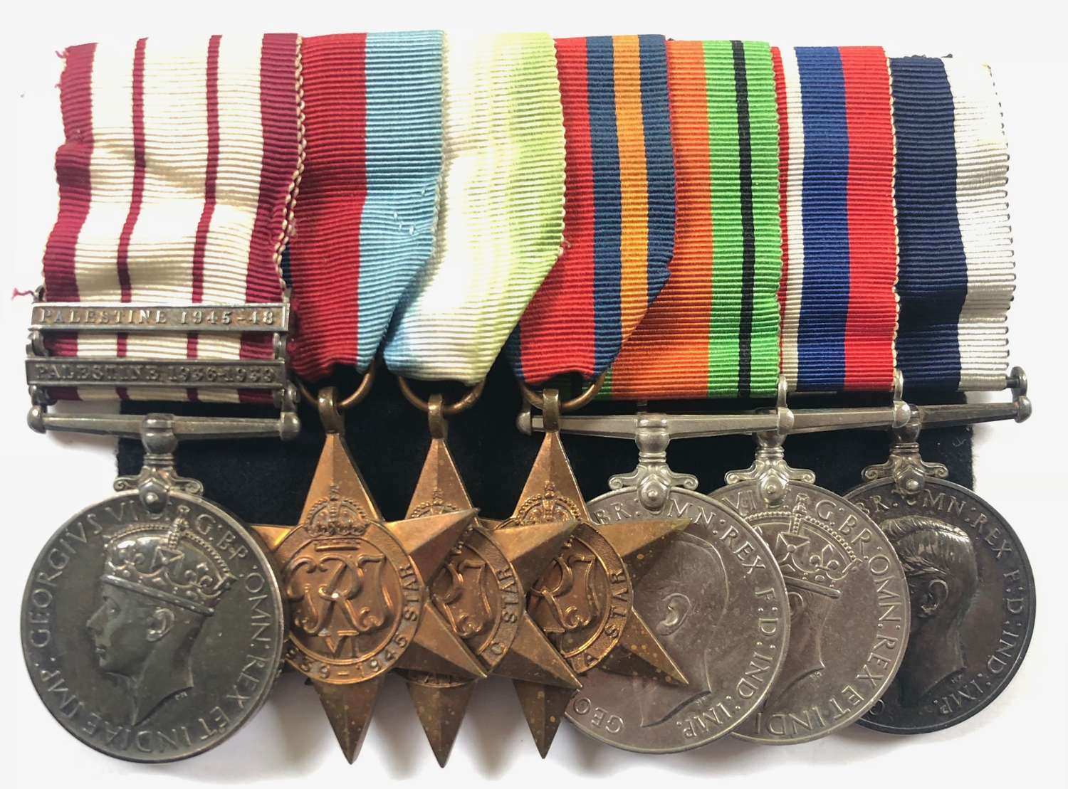 WW2 Chief Yeoman of Signals Long Service Group of Seven Medals.