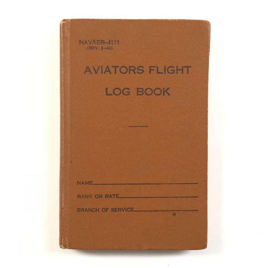 WW2 US Navy Pilot's Log Book.