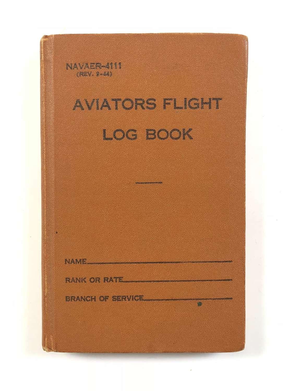 WW2 US Navy Pilot's Log Book.
