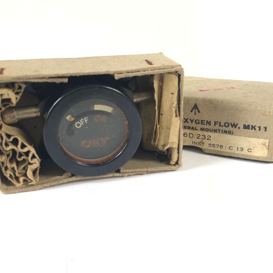 WW2 Pattern RAF Aircraft Indicator Oxygen Flow MKII