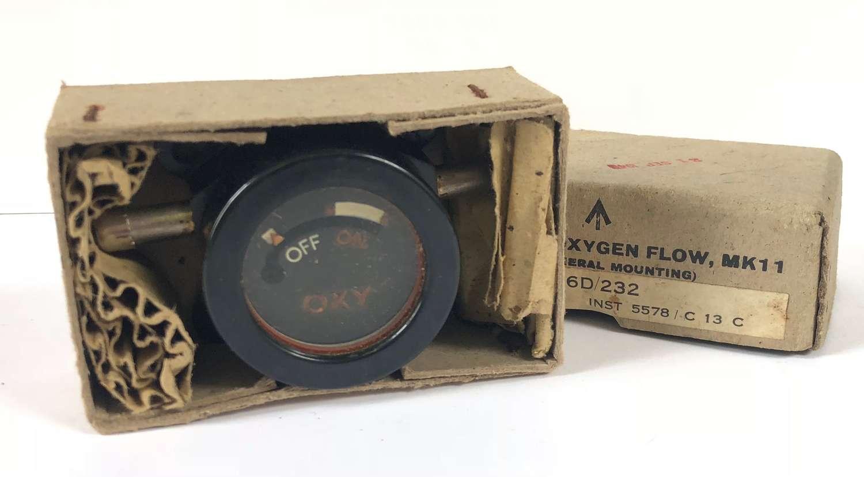 WW2 Pattern RAF Aircraft Indicator Oxygen Flow MKII