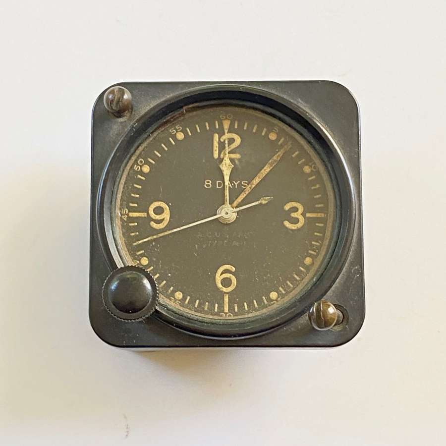 WW2 Period American Aircraft Clock by Elgin Watch Co.