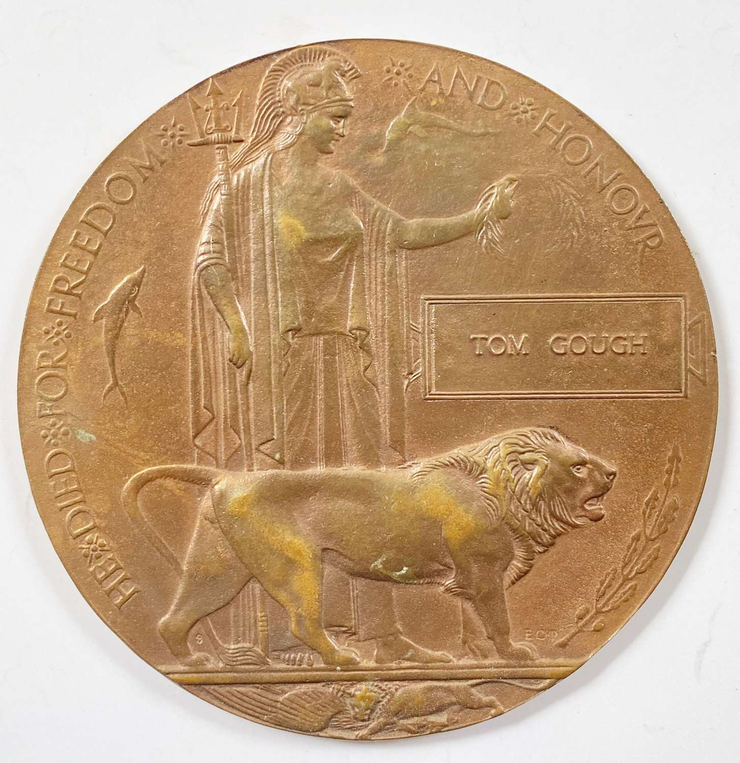 WW1 1917 2nd Bn King's Own Yorkshire Light Infantry Memorial Plaque