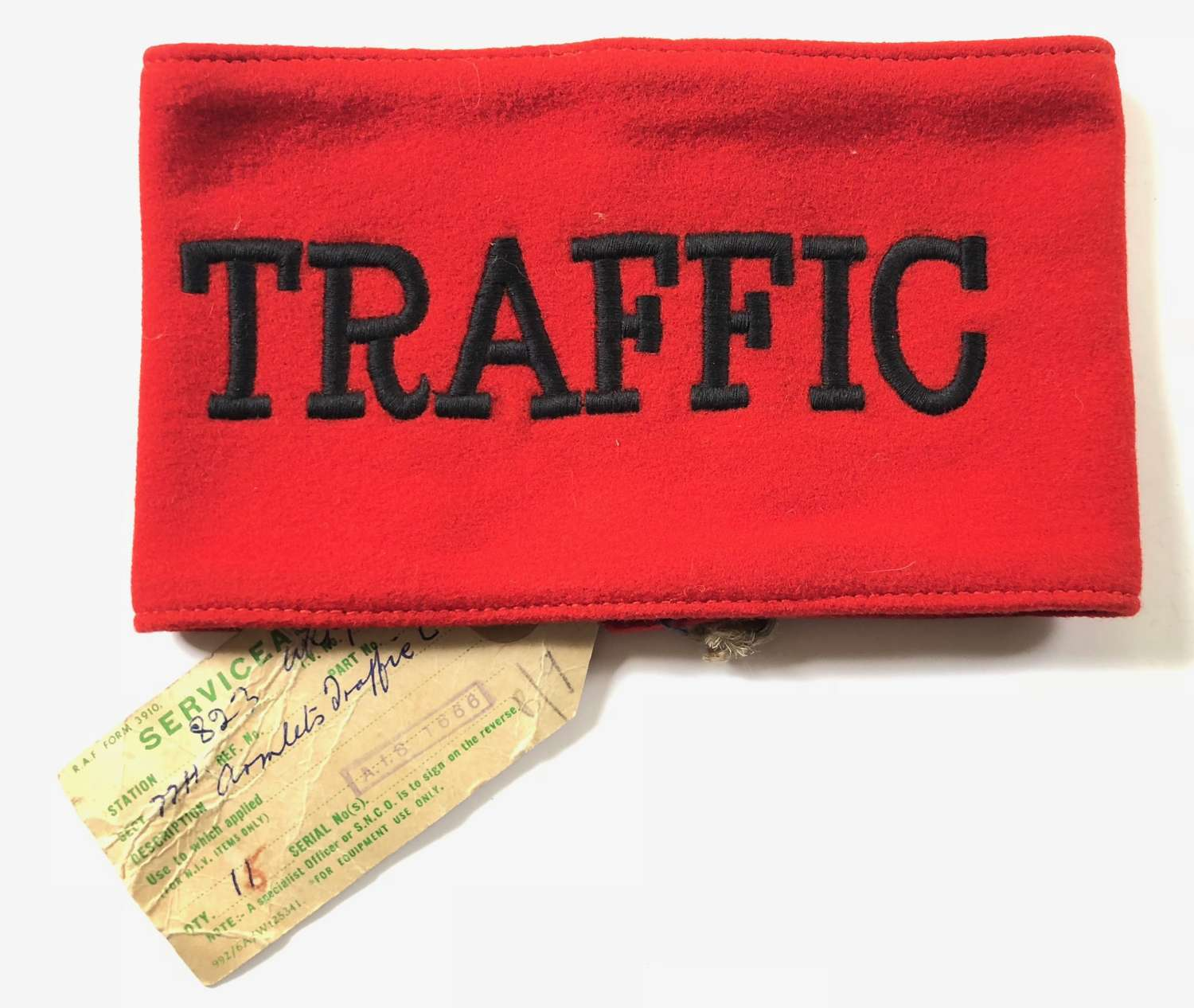 British Army Traffic Control Officer Armband.