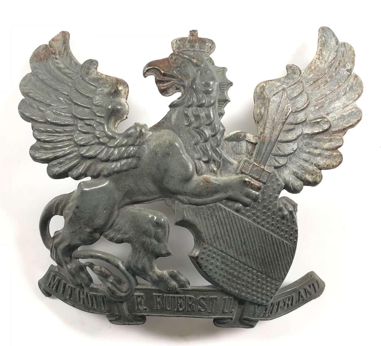 WW1 Imperial German Baden Pickelhaube Plate