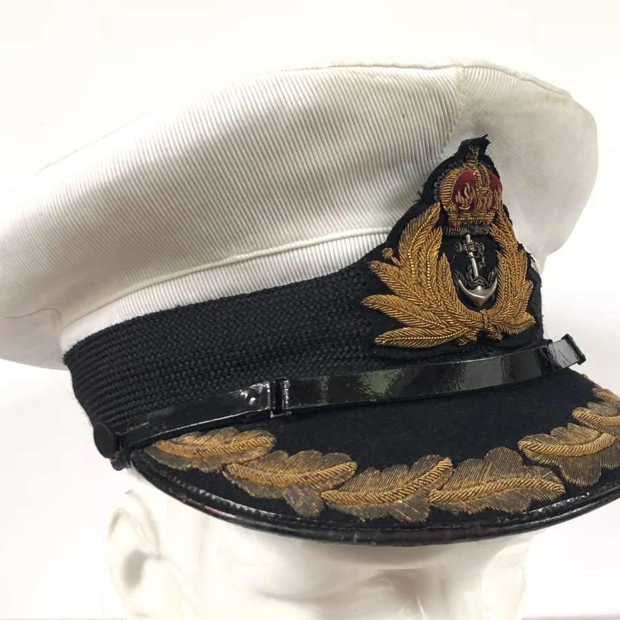 WW2 Period Royal Navy Captain's Cap.