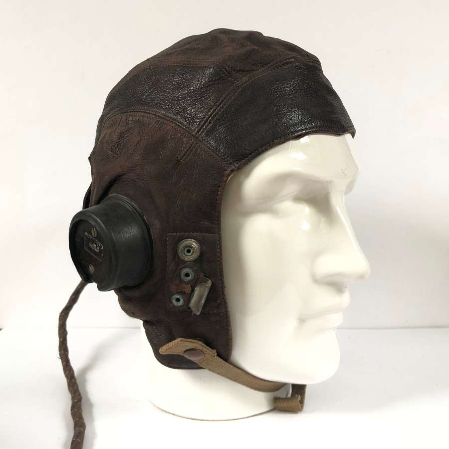 WW2 RAF C Type Flying Helmet Size 4.