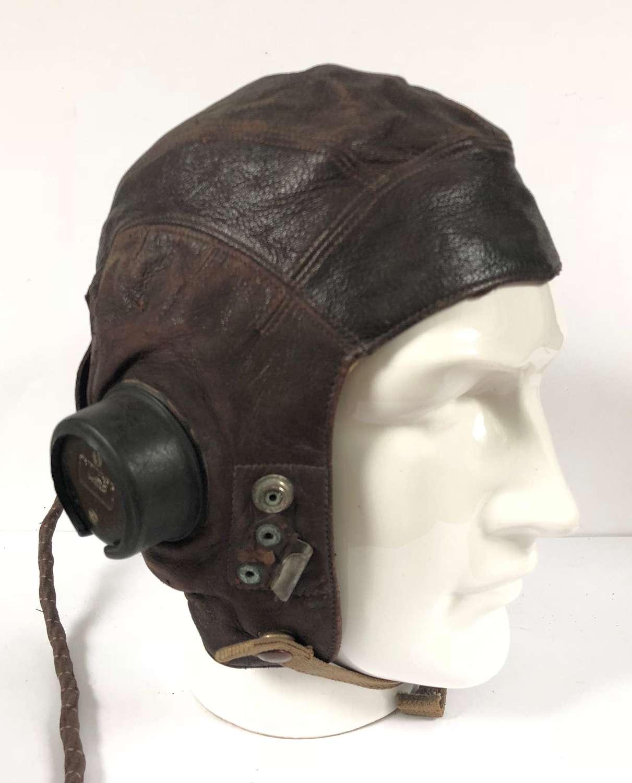 WW2 RAF C Type Flying Helmet Size 4.
