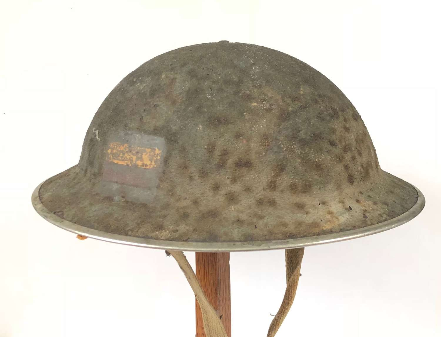 WW2 1945 Dated Divisional / Unit Marked Steel Helmet.
