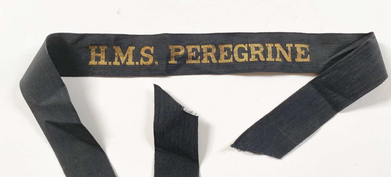 Royal Navy Fleet Air Arm HMS Peregrine Ratings Cap Tally Badge