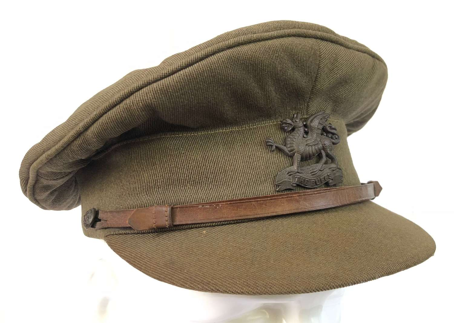 "WW1 Original ""The Buffs"" Royal East Kent Regiment Officer's Cap"