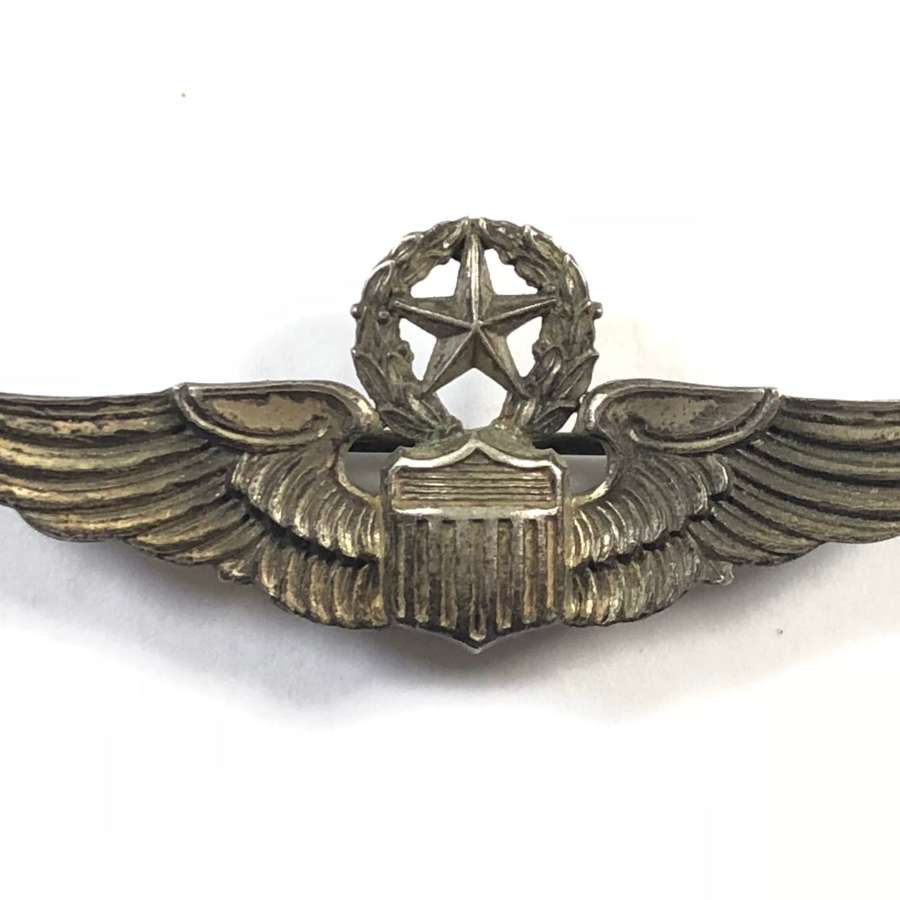 US Air Force Master Pilot Silver Miniature Wings.