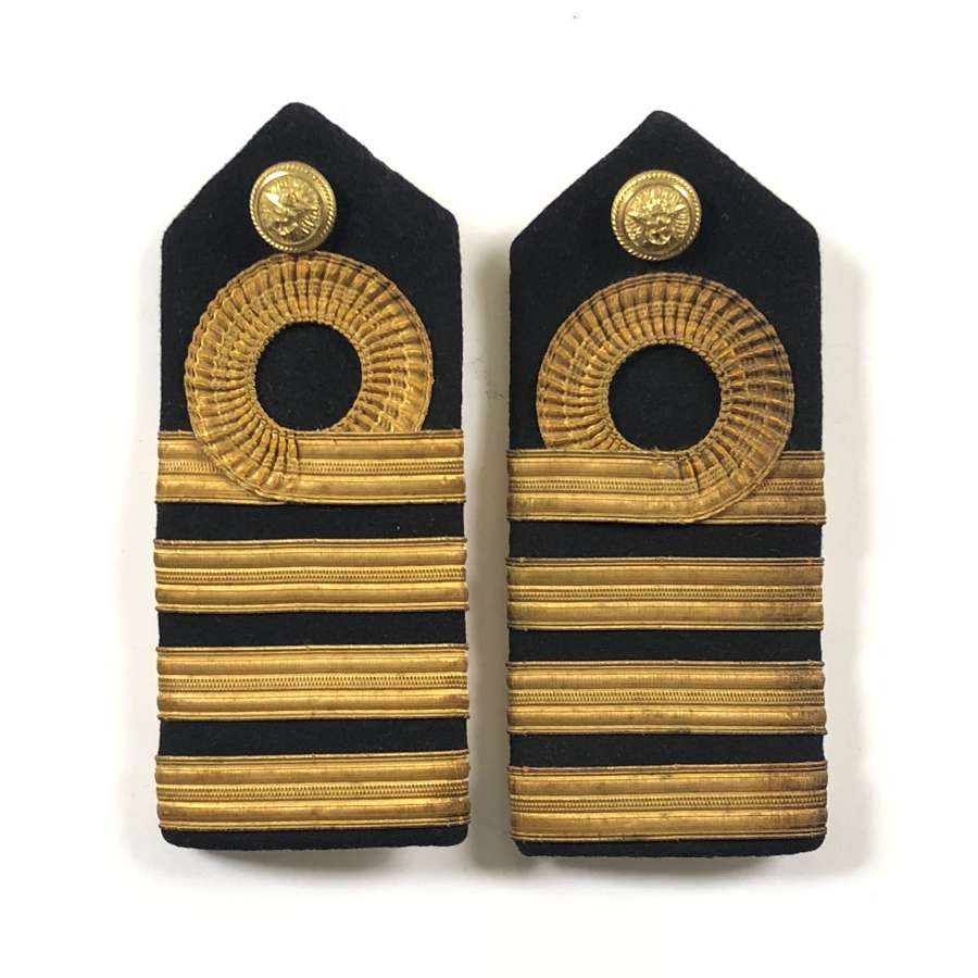 WW2 Period Royal Indian Navy Captain Rank Shoulder Board.
