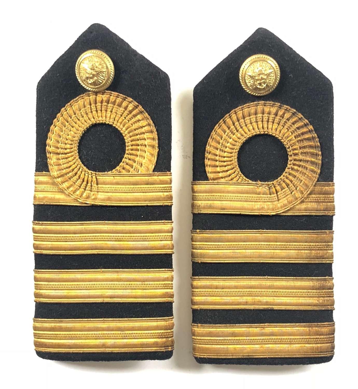 WW2 Period Royal Indian Navy Captain Rank Shoulder Board.