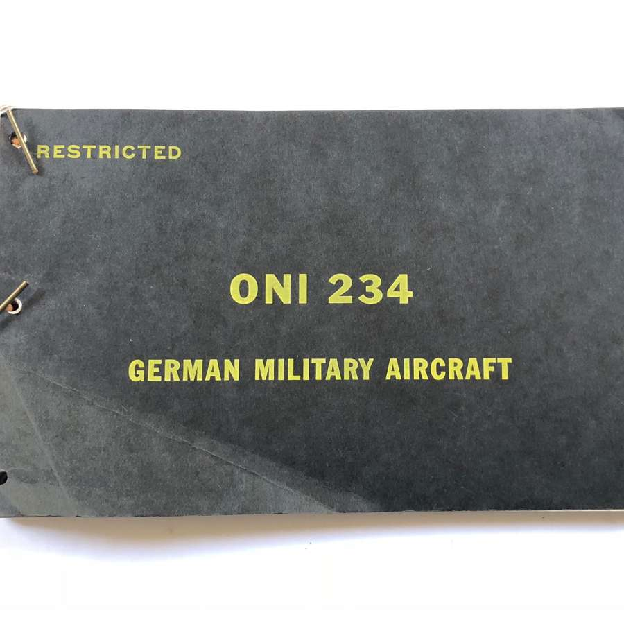 WW2 1943 US Naval Depart Official Book ONI 234 on German Aircraft.