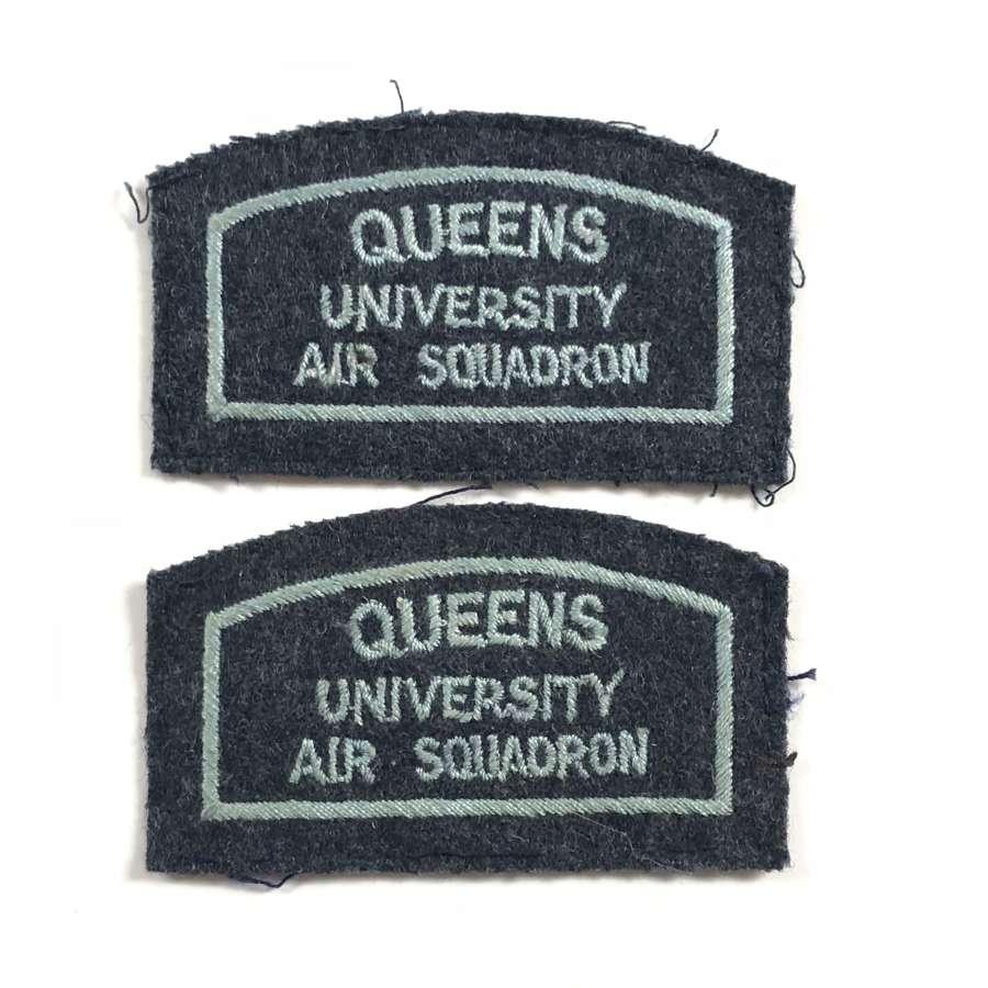 RAF Queen's University Air Squadron (Belfast Northern Ireland) Badges