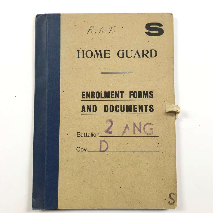 WW2 Home Front Angus Forfar Home Guard Folder Cover.