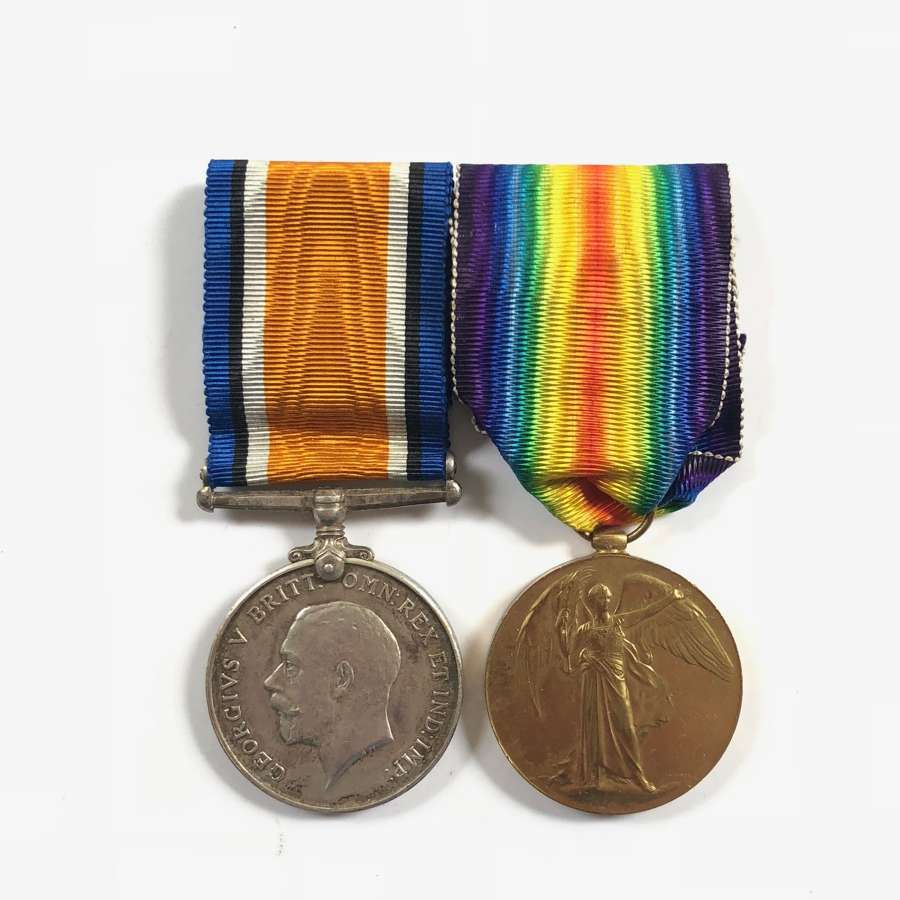 King's Own Scottish Borderers WW1 Pair of Medals