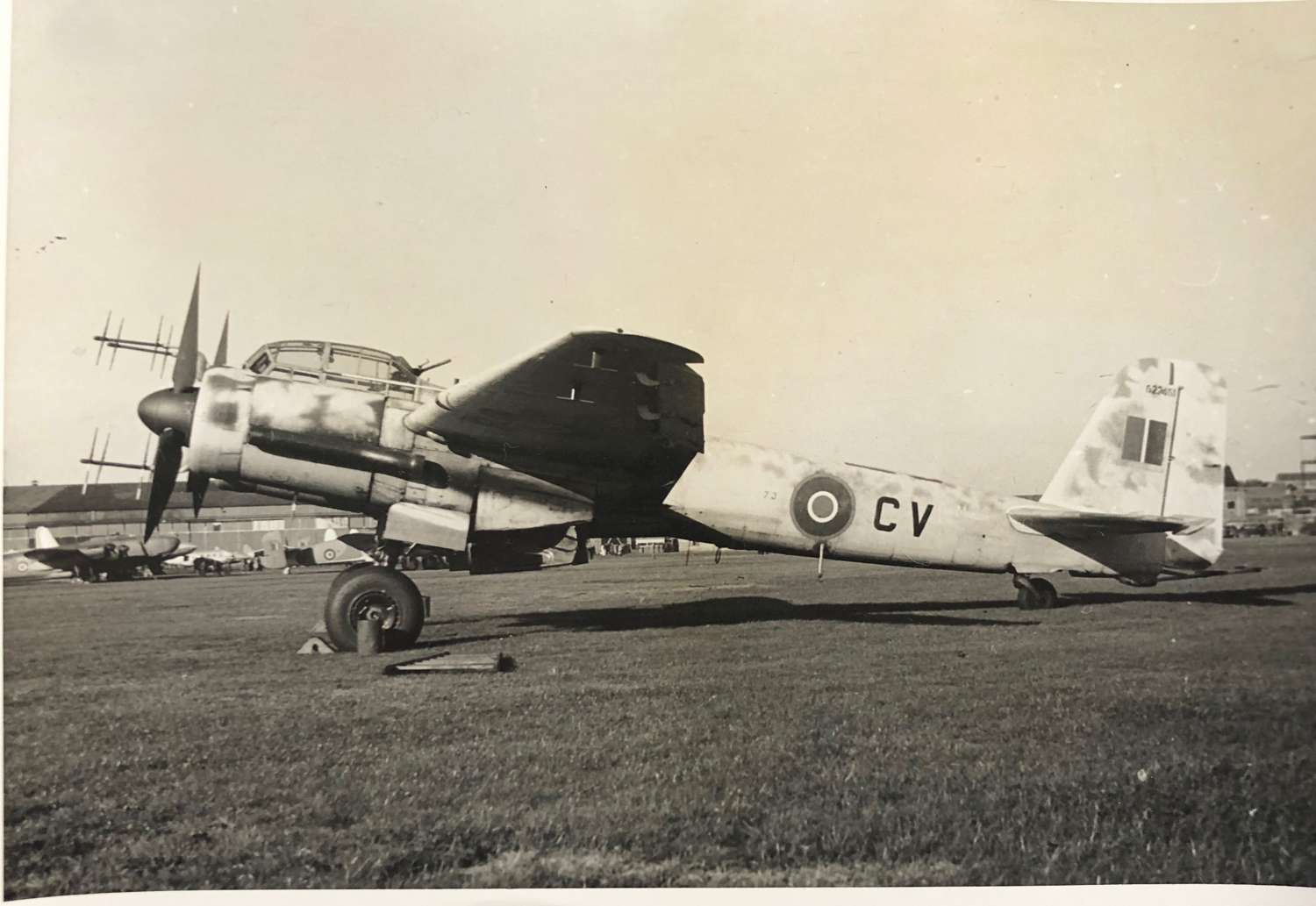 WW2 Period RAF German JU88 Aircraft Official Photograph.