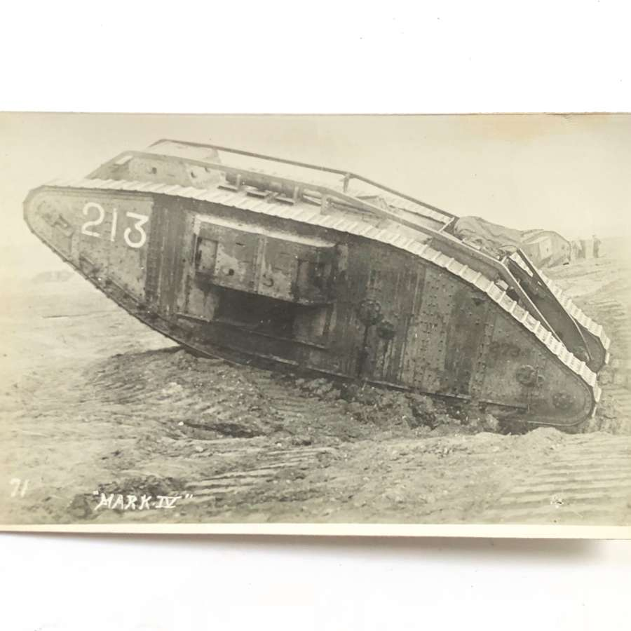 WW1 Tank Corps Photographic Postcard.