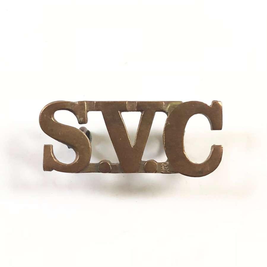 Singapore Volunteer Corps Brass Shoulder Title.