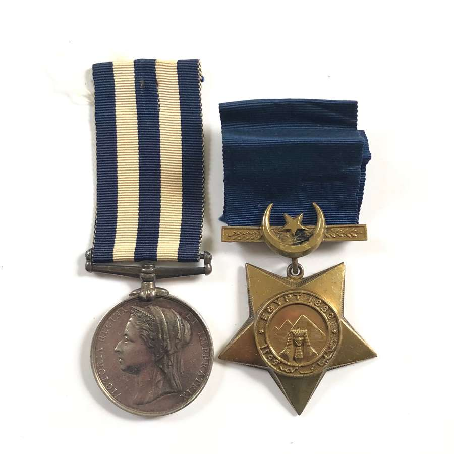 Victorian 2nd Bn Derby Regiment Egypt 1882 Medal & Khedives Star