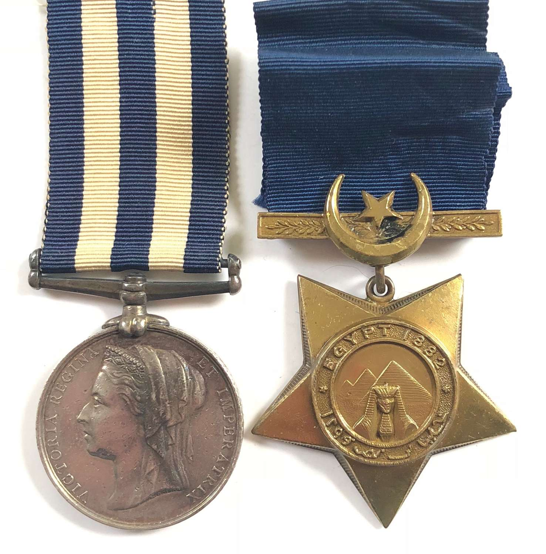 Victorian 2nd Bn Derby Regiment Egypt 1882 Medal & Khedives Star
