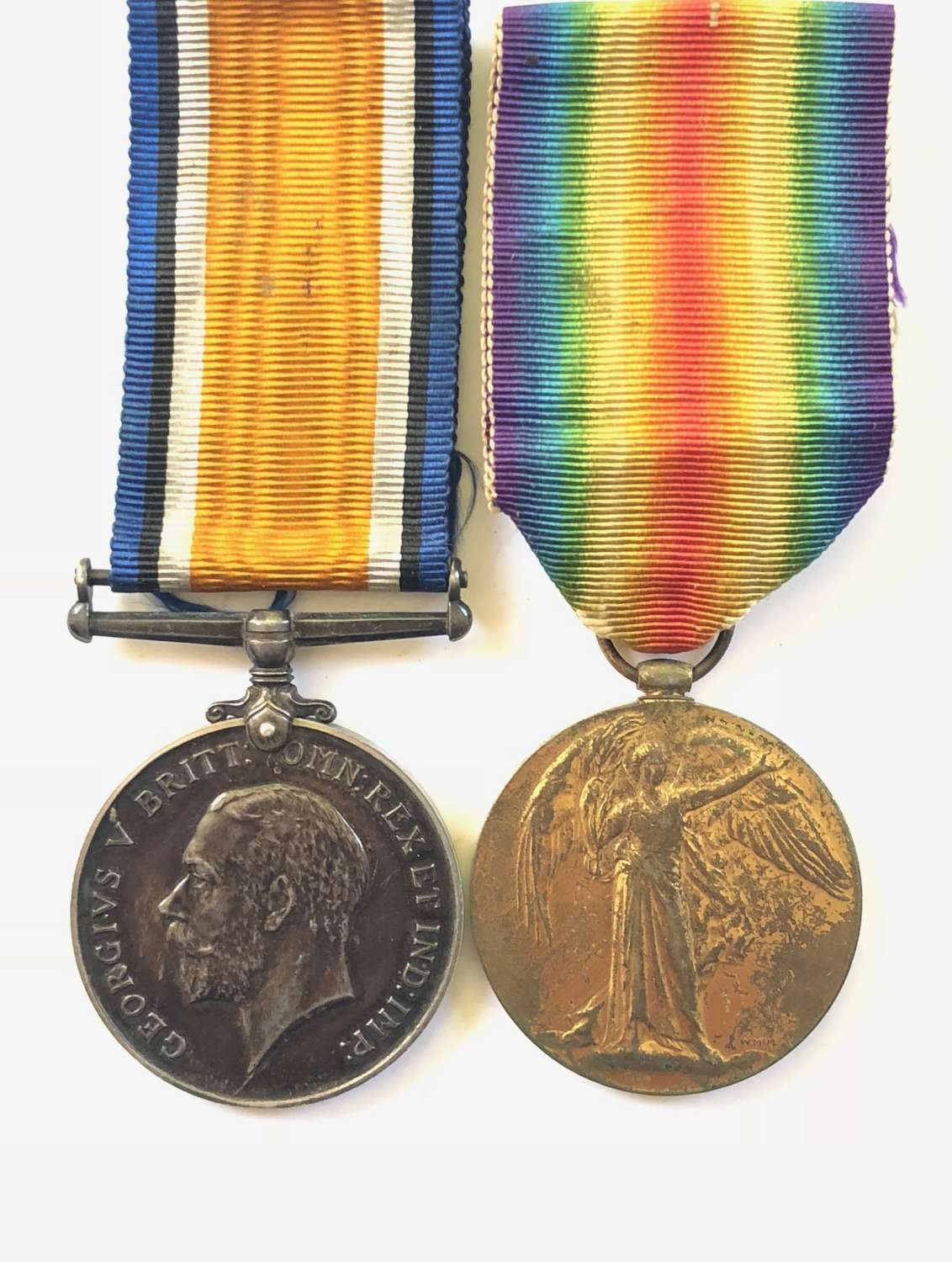 WW1 1917 1st Bn KOSB Casualty Pair of Medals.
