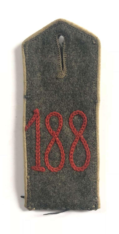 WW1 Imperial German 188th Regiment Shoulder Strap.