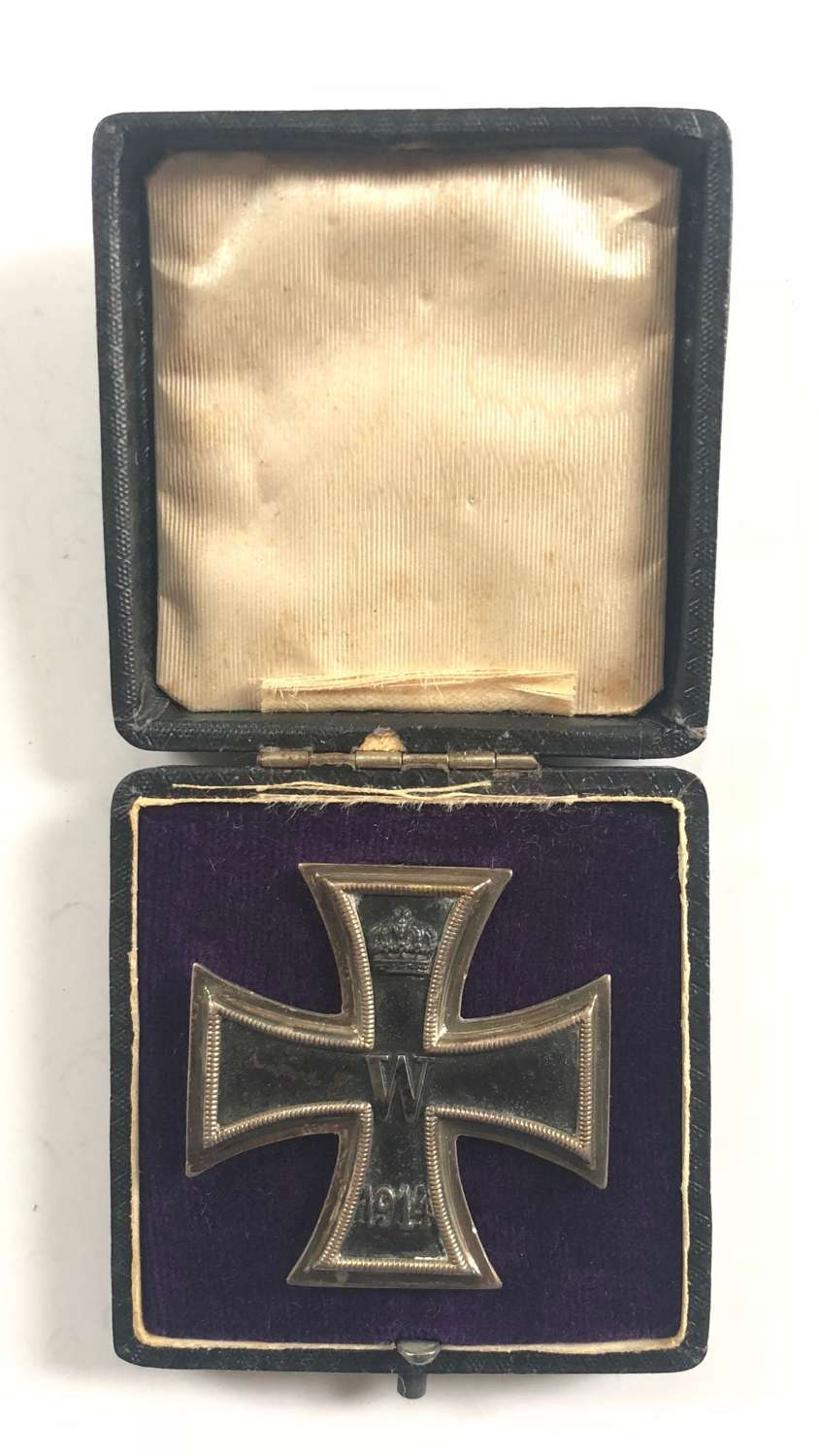 WW1 Imperial German Maker Marked Iron Cross 1st Class & Box.