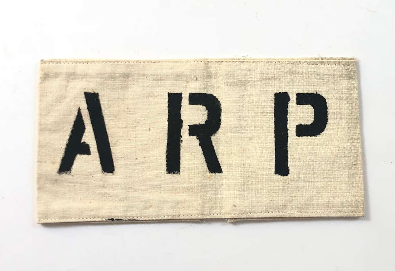 WW2 Period Printed ARP Armband.