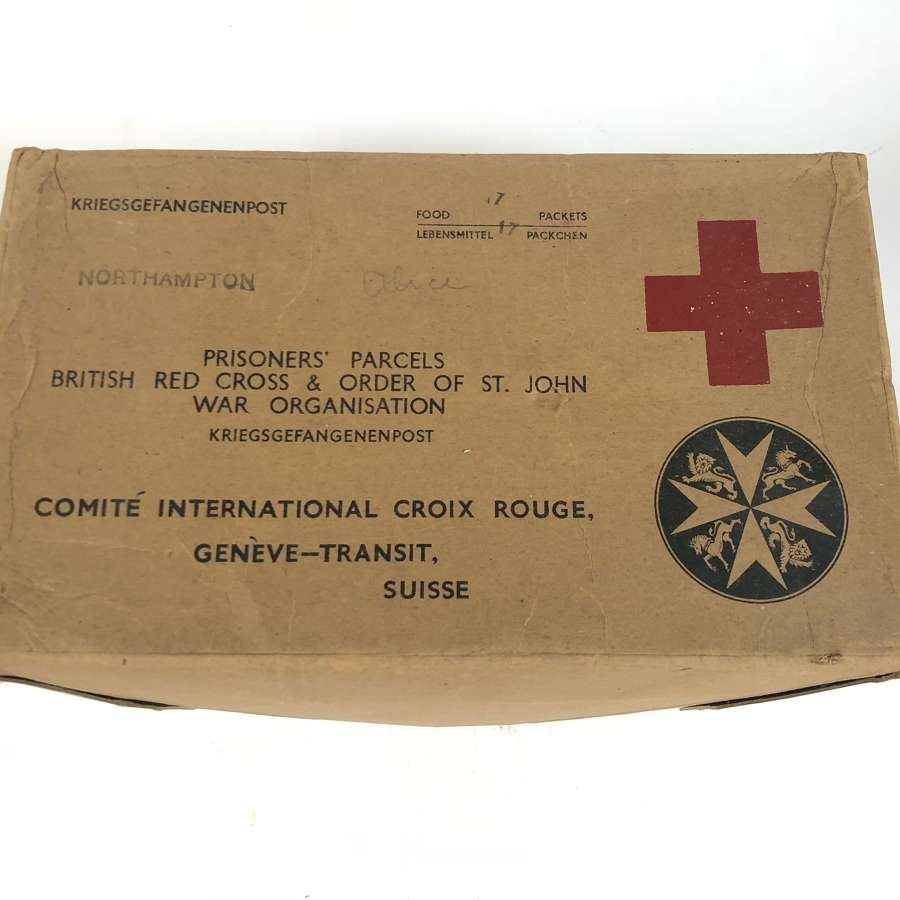 "WW2 British Red Cross ""Northampton"" POW Cardboard Box."