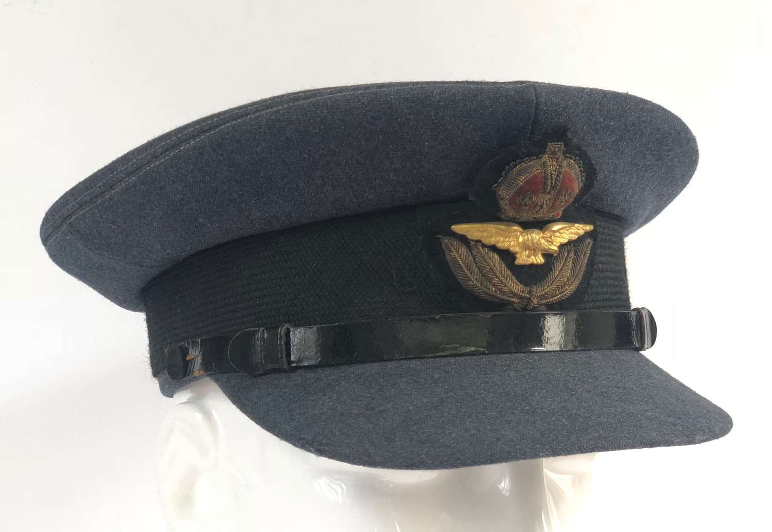 WW2 RAF Officer's Cap Tailored By Burberrys.