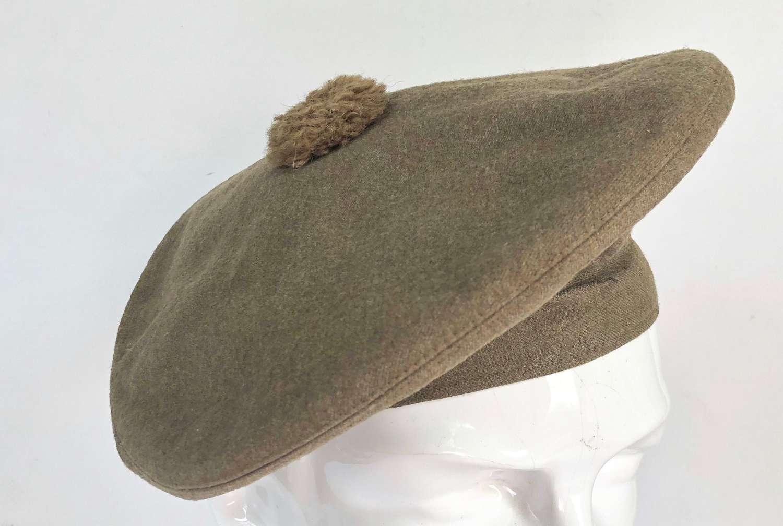WW1 Highland Regiment Officer's Khaki Tan O'shanter.