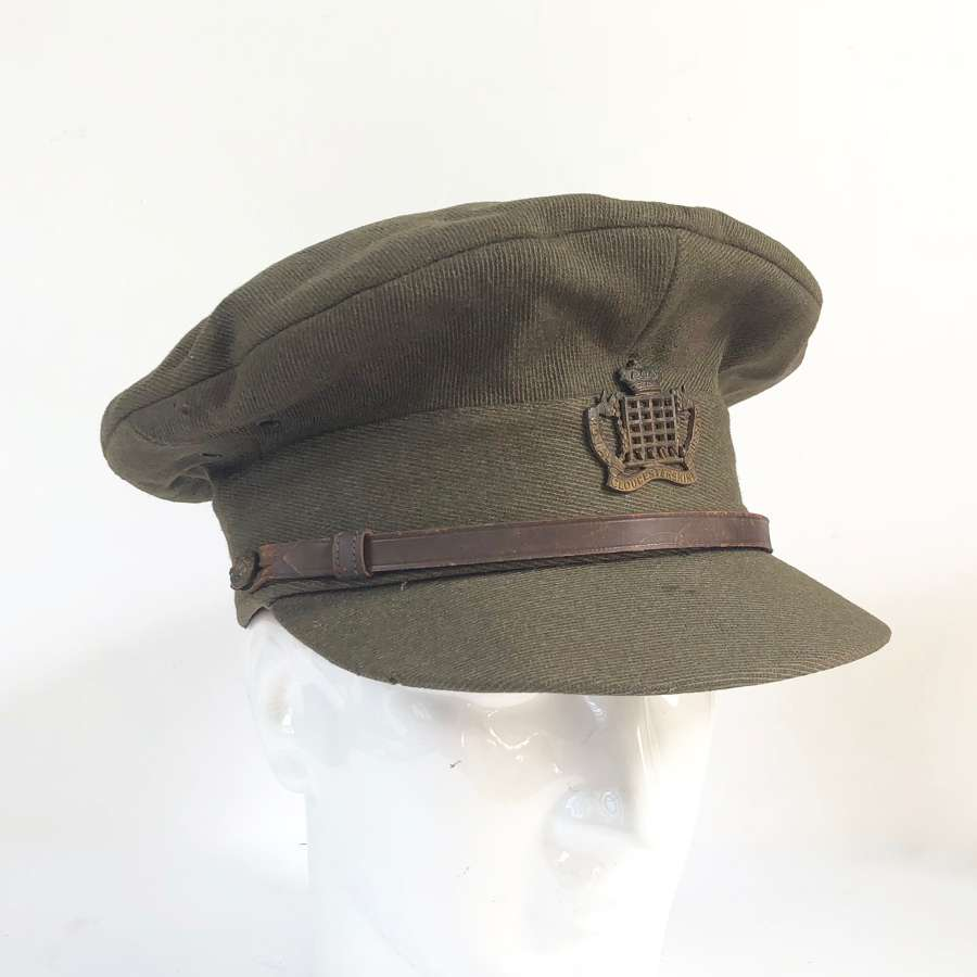 WW1 Gloucestershire Hussar Officer's Peaked Trench Cap.