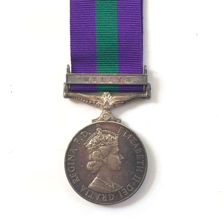 Federation of Malayan Police General Service Medal, Clasp Malaya.
